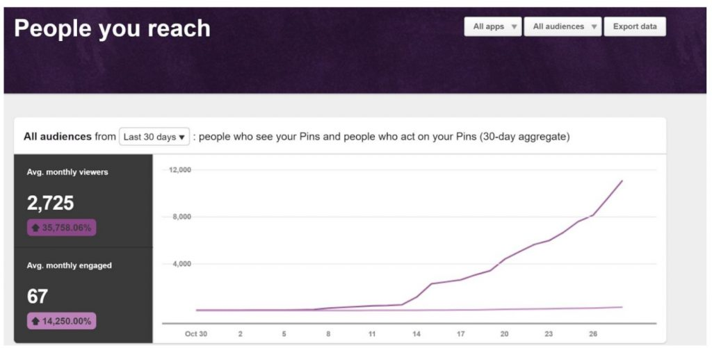 People you reach Pinterest stats. How to grow your blog using pinterest