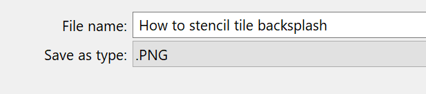 File name in the save image window.