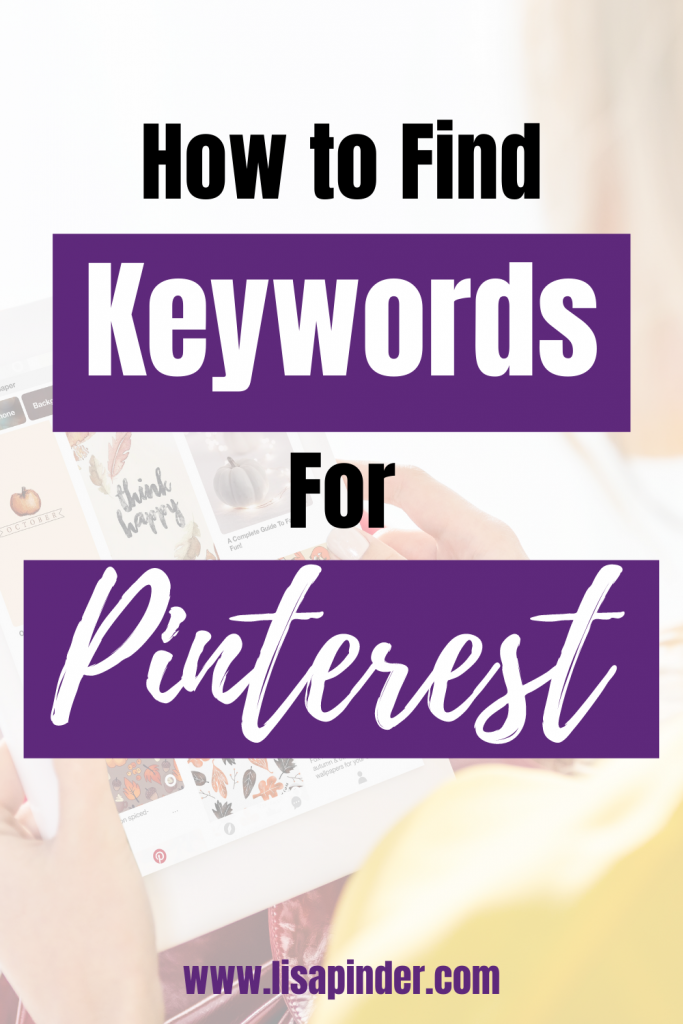 How to Find Keywords for Pinterest